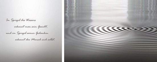 Leinwandbild »Wasser«, (Set), 2er-Set