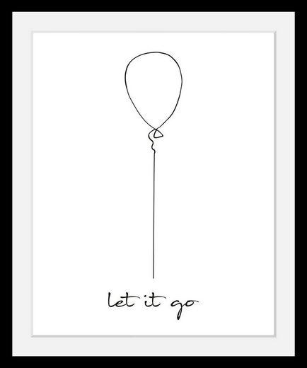 queence Bild »Luftballon«, in 3 Größen, gerahmt