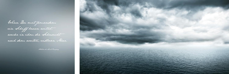 Leinwandbild »Endloses Meer«, (Set, 2 St), 2er-Set