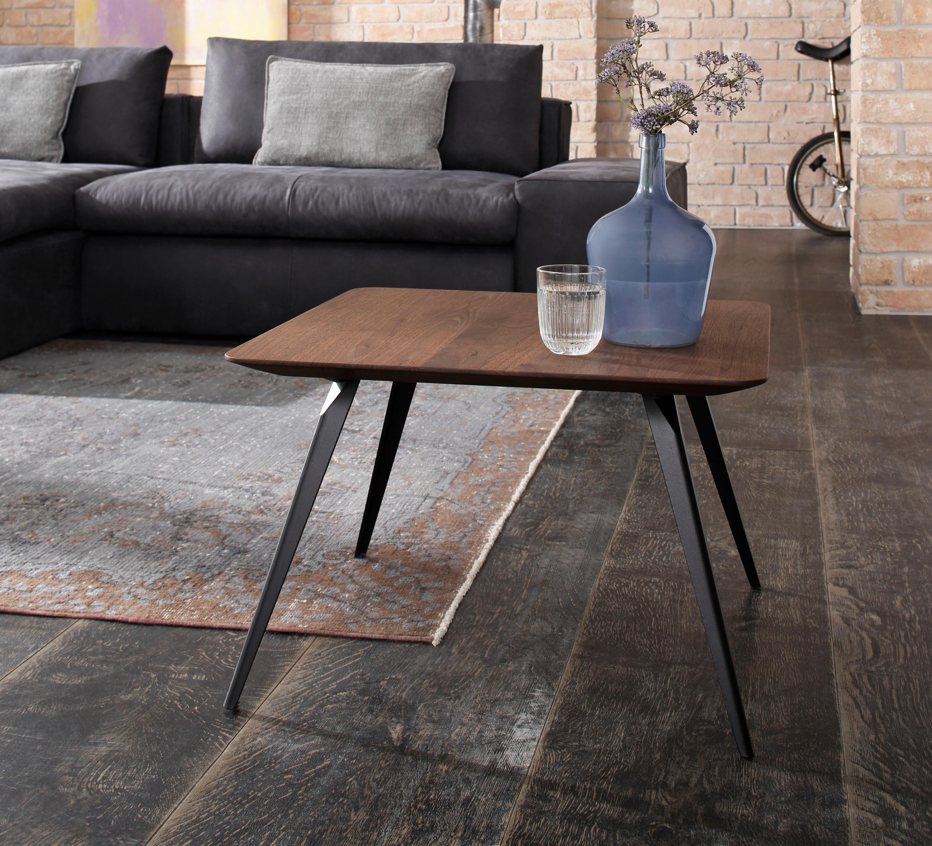 W.SCHILLIG Couchtisch »jalka« mit langen Metallbeinen, Höhe 40 cm | Wohnzimmer > Tische > Couchtische | Leder - Eiche - Pulverbeschichtet | W.SCHILLIG