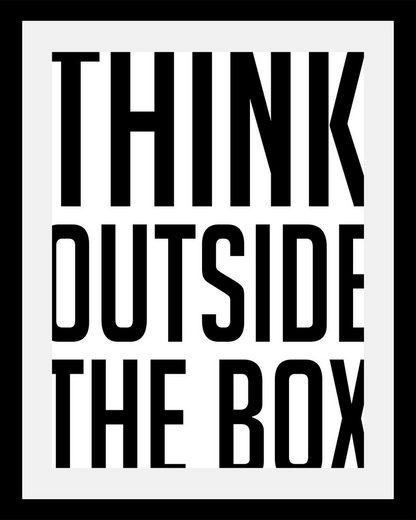 queence Bild »Think outside«, in 3 Größen, gerahmt