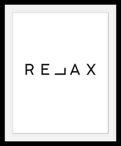 Bild »Relax«, in 3 Größen, gerahmt