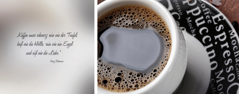 Leinwandbild »schwarzer Kaffee«, (Set, 2 St), 2er-Set