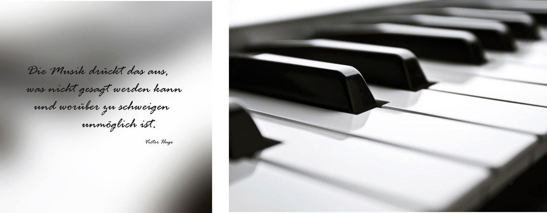 Leinwandbild »Klavier«, (Set, 2 St), 2er-Set