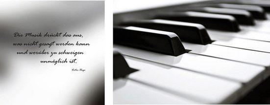 Leinwandbild »Klavier«, (Set), 2er-Set