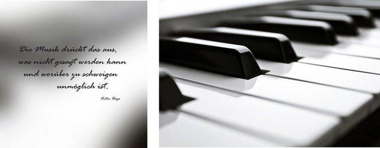 Leinwandbild »Klavier«, (Set, 2 Stück), 2er-Set