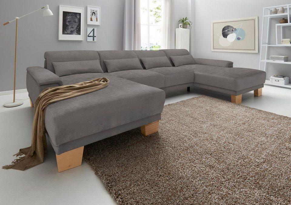 wohnlandschaft inklusive kopfteilverstellung wahlweise mit boxspring unterbau online kaufen otto. Black Bedroom Furniture Sets. Home Design Ideas