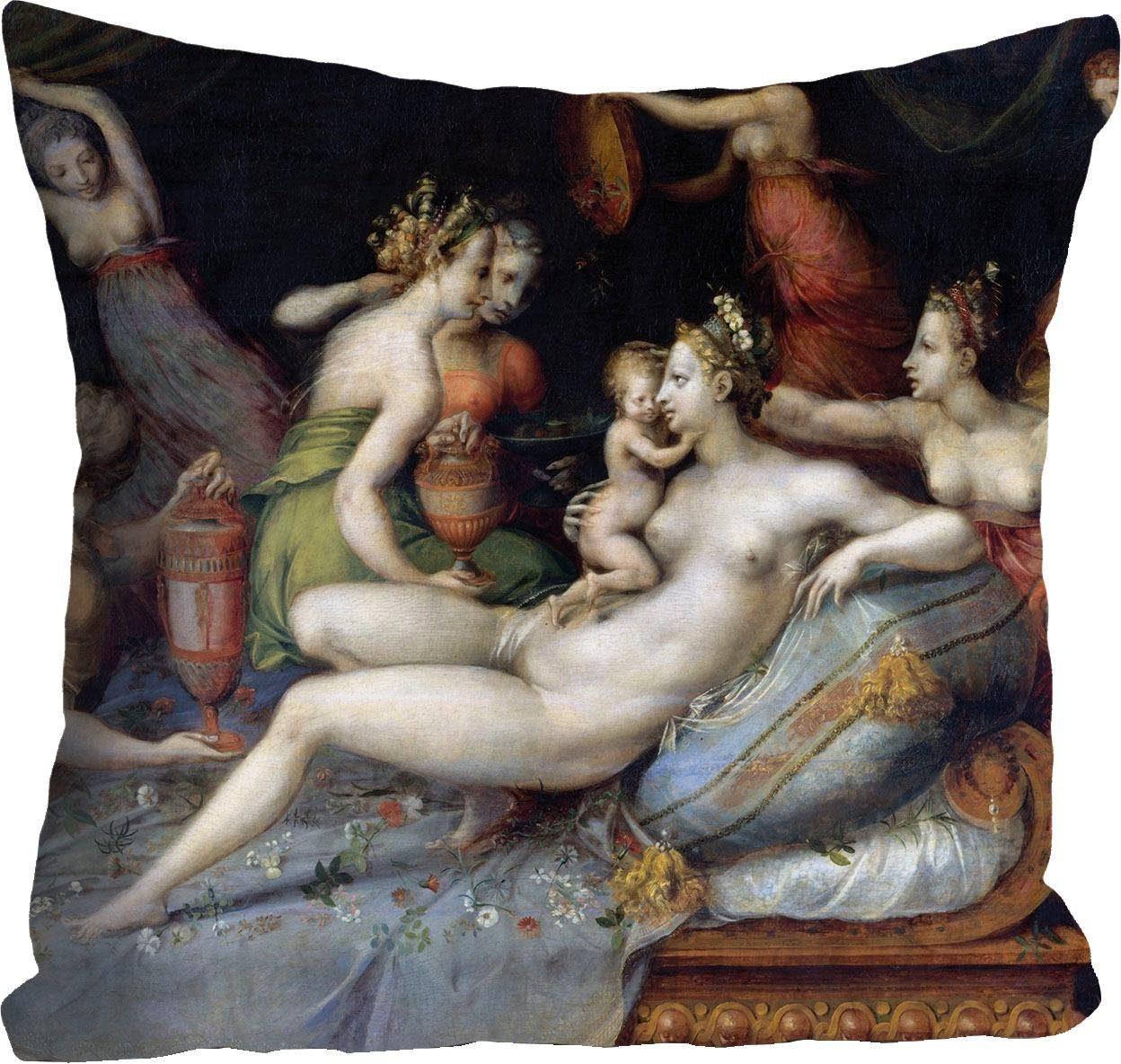 Kissenhülle »Frauen mit Kindern« 40/40 cm