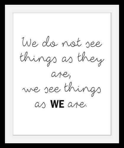 Bild mit Rahmen »We« in 3 Größen