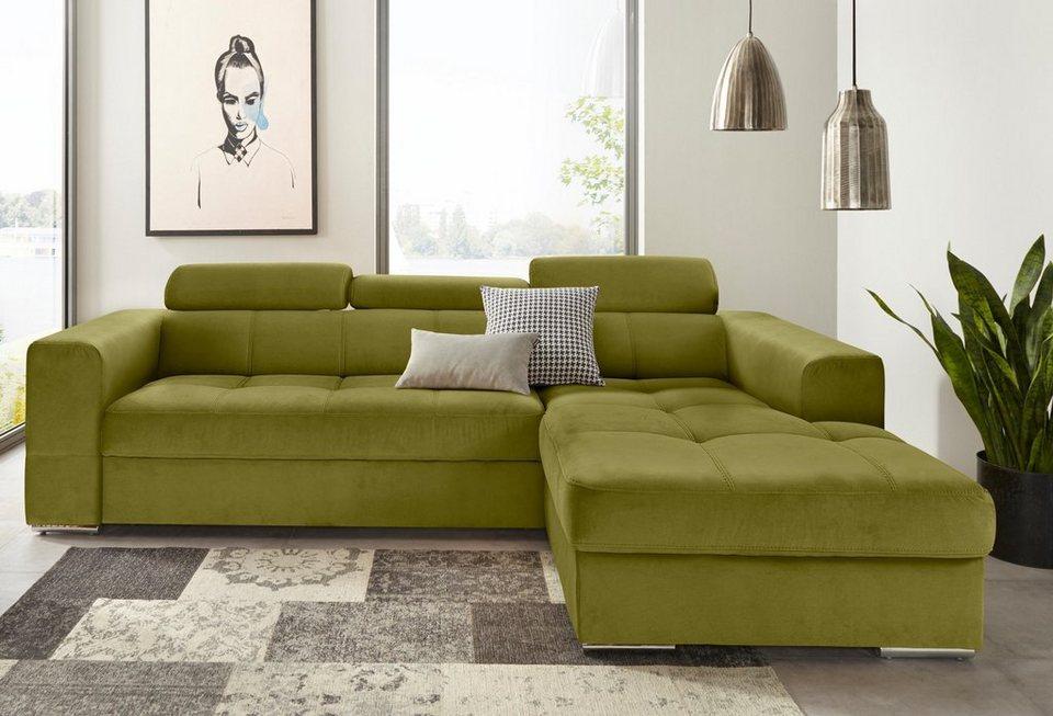 trendmanufaktur ecksofa mit recamiere wahlweise mit bettfunktion und bettkasten online kaufen. Black Bedroom Furniture Sets. Home Design Ideas