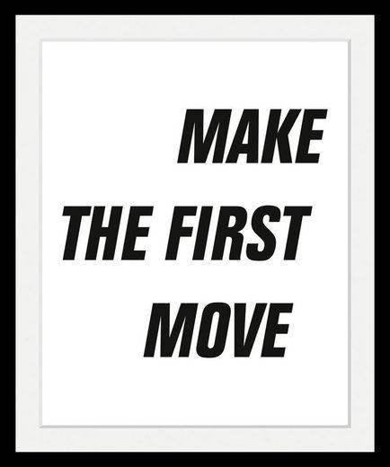 Bild »First Move«, in 3 Größen, gerahmt