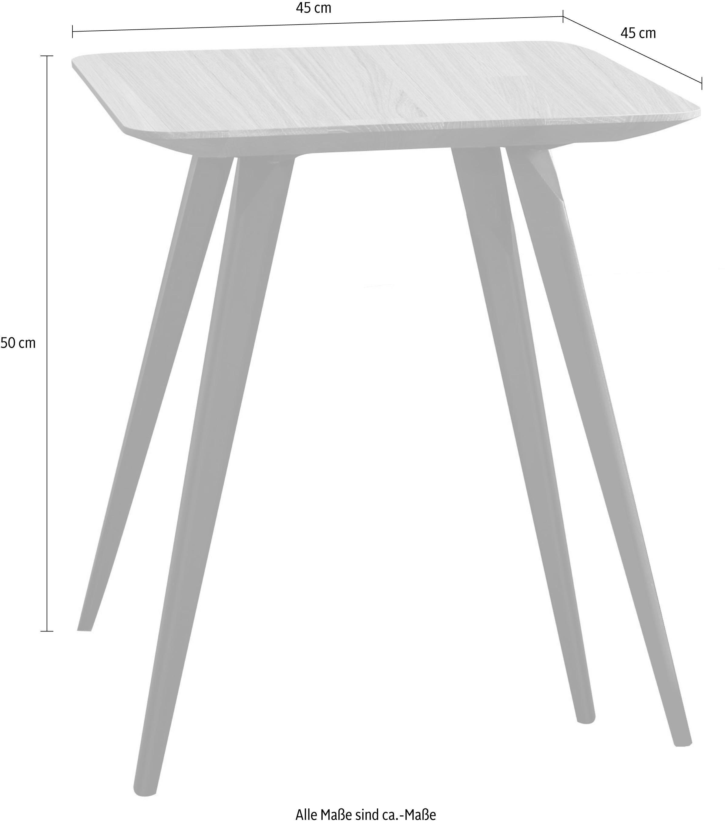 W.SCHILLIG Couchtisch »jalka« mit langen Metallbeinen, Höhe 50 cm | Wohnzimmer > Tische > Couchtische | Leder - Eiche - Pulverbeschichtet | W.SCHILLIG