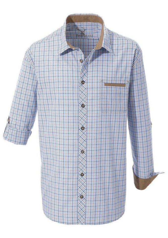 Spieth & Wensky Trachtenhemd mit Krempelärmel | Bekleidung > Hemden > Trachtenhemden | Blau | Spieth & Wensky Feierlaune