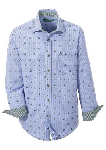 Country Line Trachtenhemd mit Hirschprint