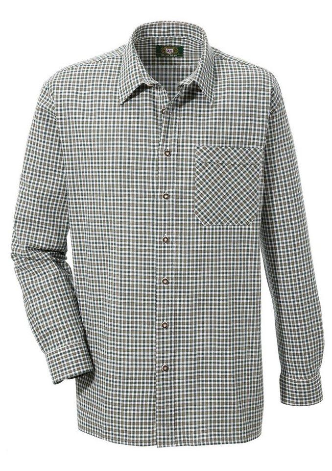 OS-Trachten Trachtenhemd im Karodesign | Bekleidung > Hemden > Trachtenhemden | Grün | OS-Trachten