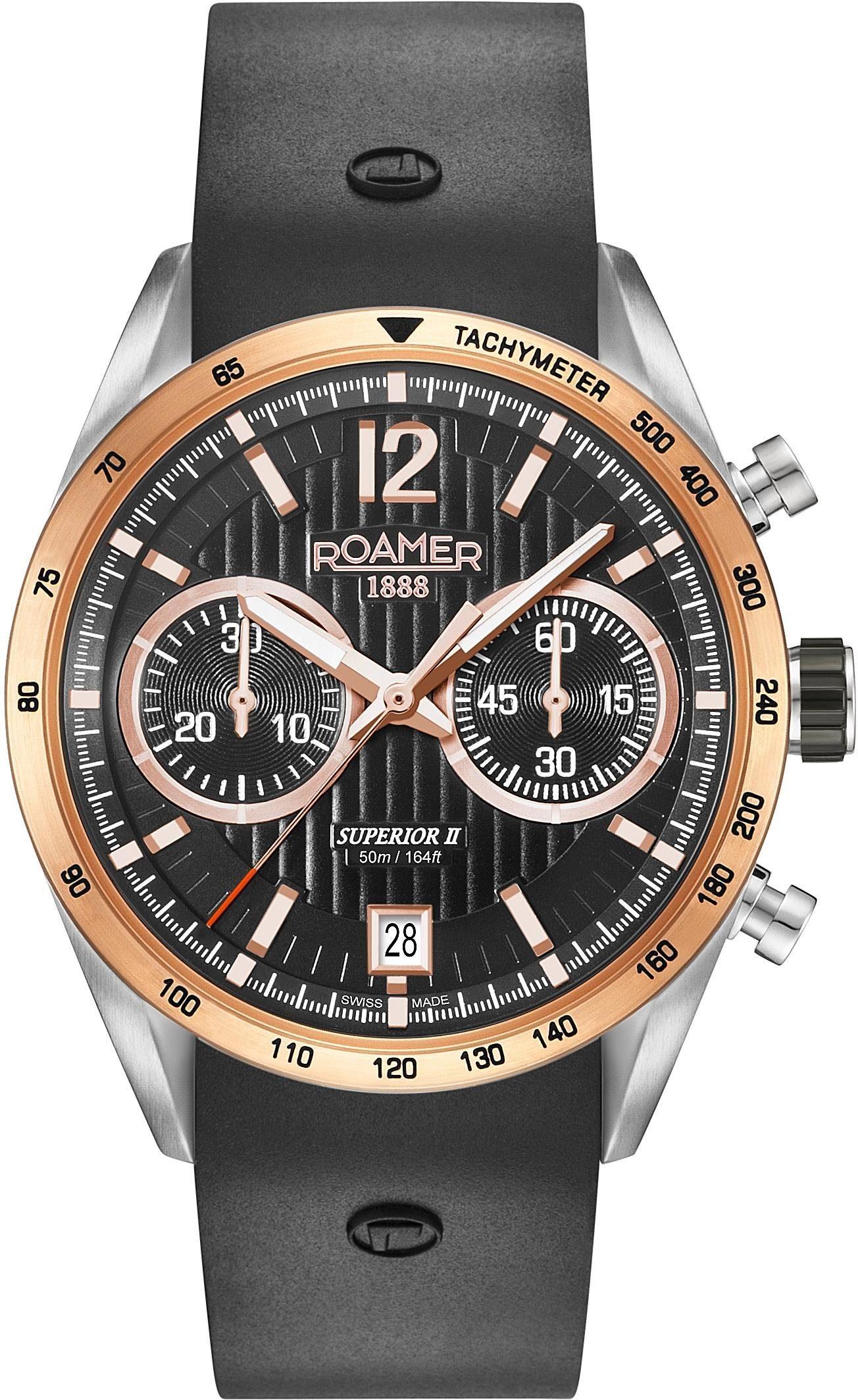 Roamer Chronograph »SUPERIOR CHRONO II, 510902 39 54 05« mit kleiner Sekunde