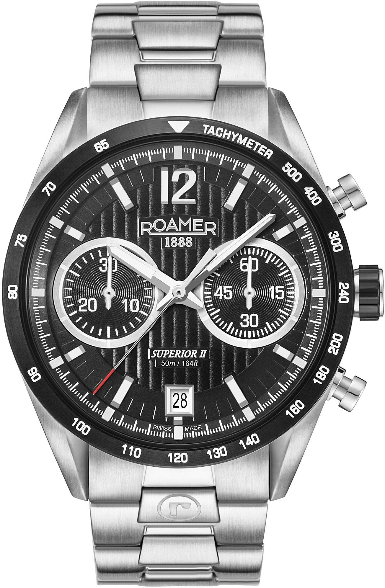 Roamer Chronograph »SUPERIOR CHRONO II, 510902 41 54 50« mit kleiner Sekunde