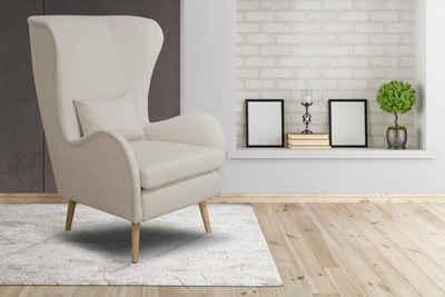 Home Affaire Sessel »Tivat«, Wahlweise Mit Hocker Mit Beinen Aus Buchenholz  Und Zierkissen