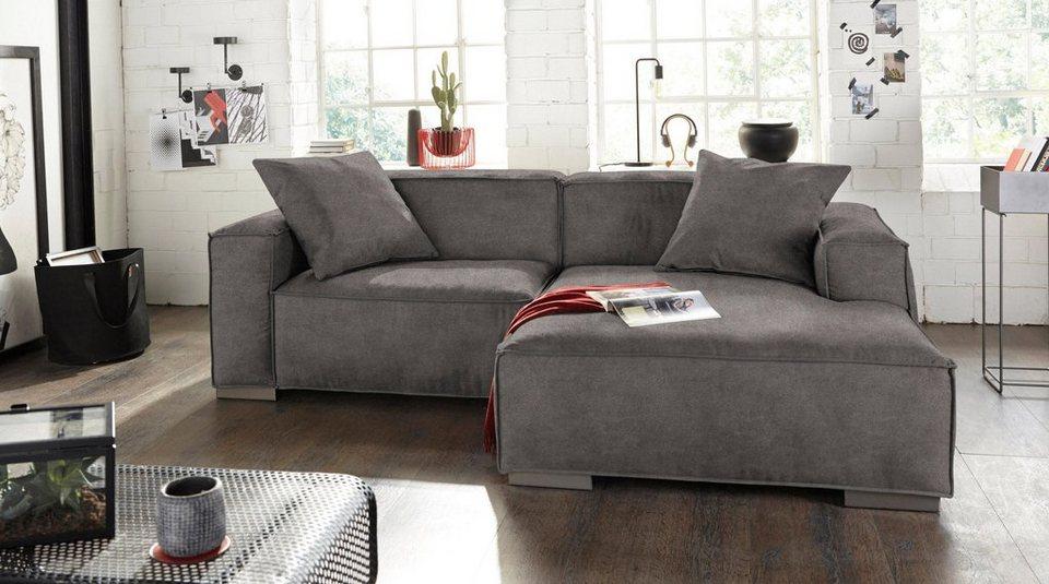 bruno banani ecksofa mit trendiger kedernaht otto. Black Bedroom Furniture Sets. Home Design Ideas