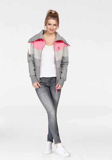 Mit Kickin Kragen Colourblocking Sweater »sunshine B« And Im Trend Modischer Sweatjacke Alife 50xTqOw75