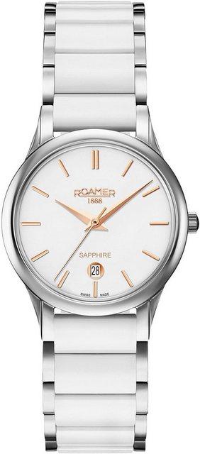 Roamer Schweizer Uhr »C-LINE LADIES, 657844 40 25 60« | Uhren > Schweizer Uhren | Weiß | Roamer