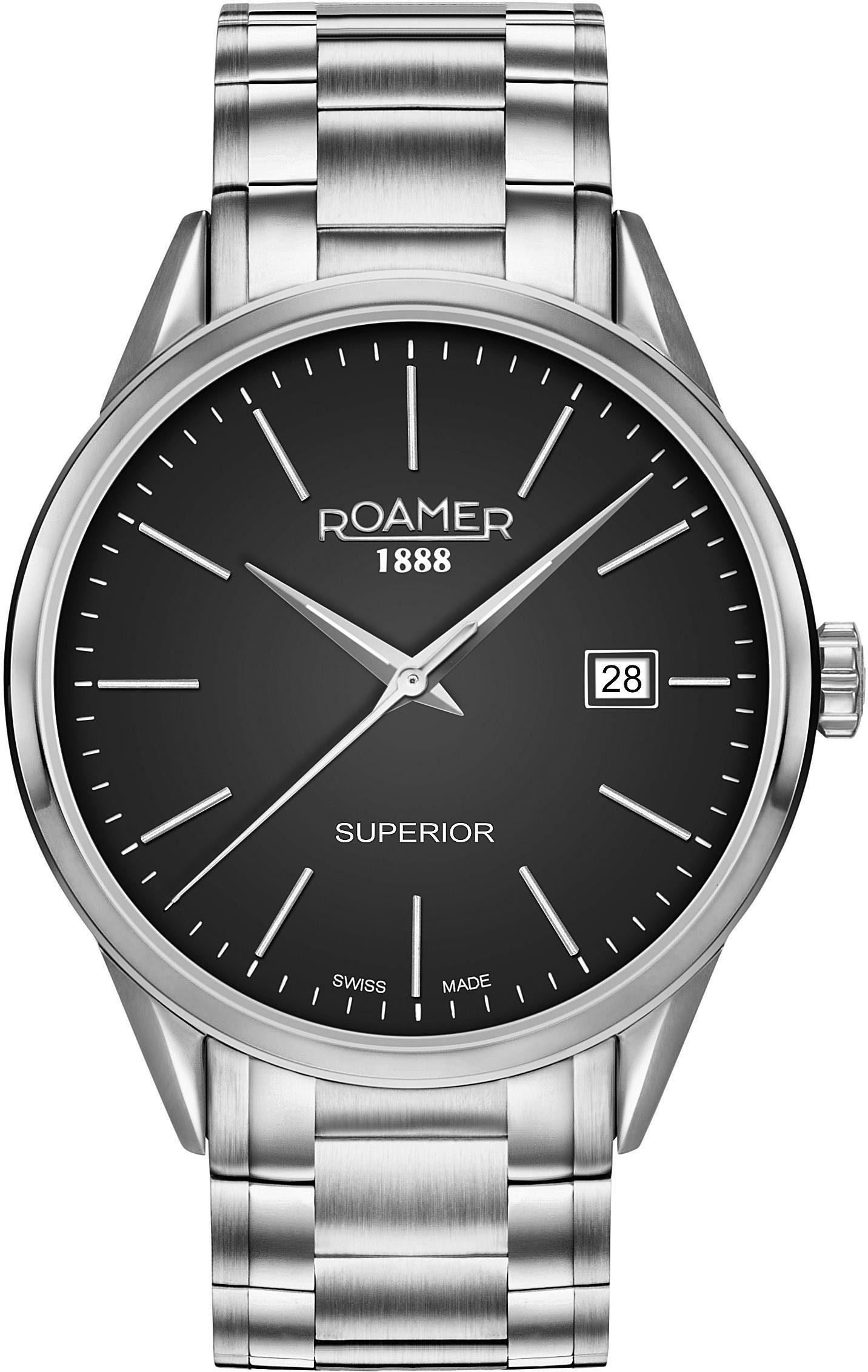 Roamer Schweizer Uhr »SUPERIOR 3H GENTS, 508833 41 55 50«