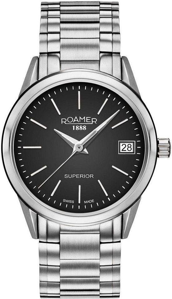 Roamer Schweizer Uhr »SUPERIOR 3H LADIES, 508856 41 55 50« | Uhren > Schweizer Uhren | Roamer