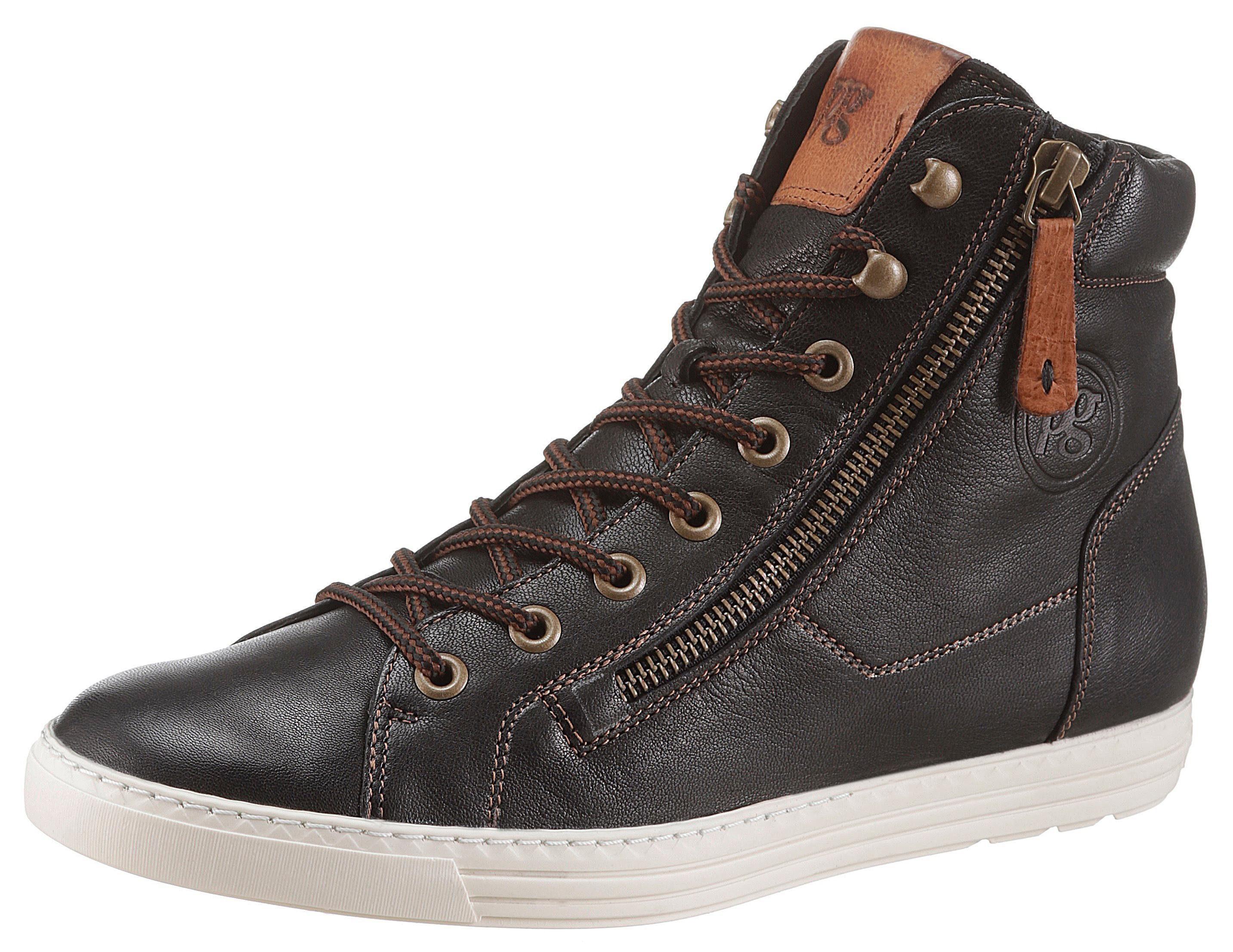 Paul Green Sneaker, mit Kontrastnähten kaufen  schwarz