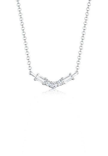 Elli Collierkettchen »Topas Edelstein Collier Elegant Bridal 925 Silber«