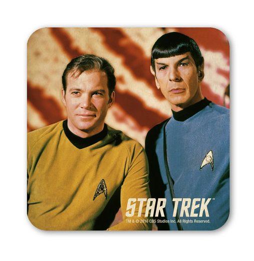 LOGOSHIRT Untersetzer mit Captain Kirk und Spock-Motiv