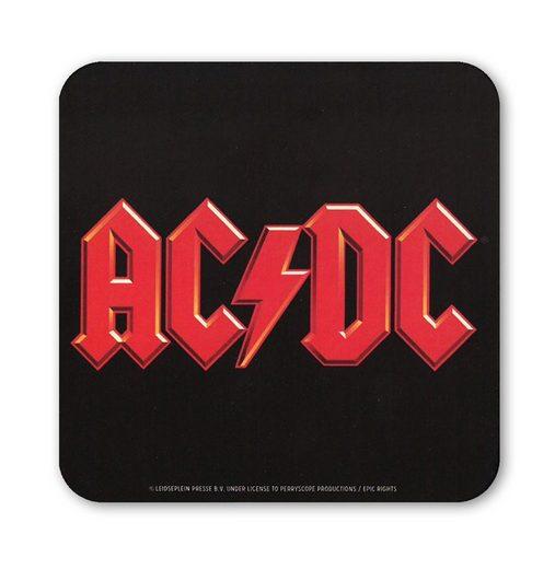 LOGOSHIRT Untersetzer mit AC/DC-Bandlogo