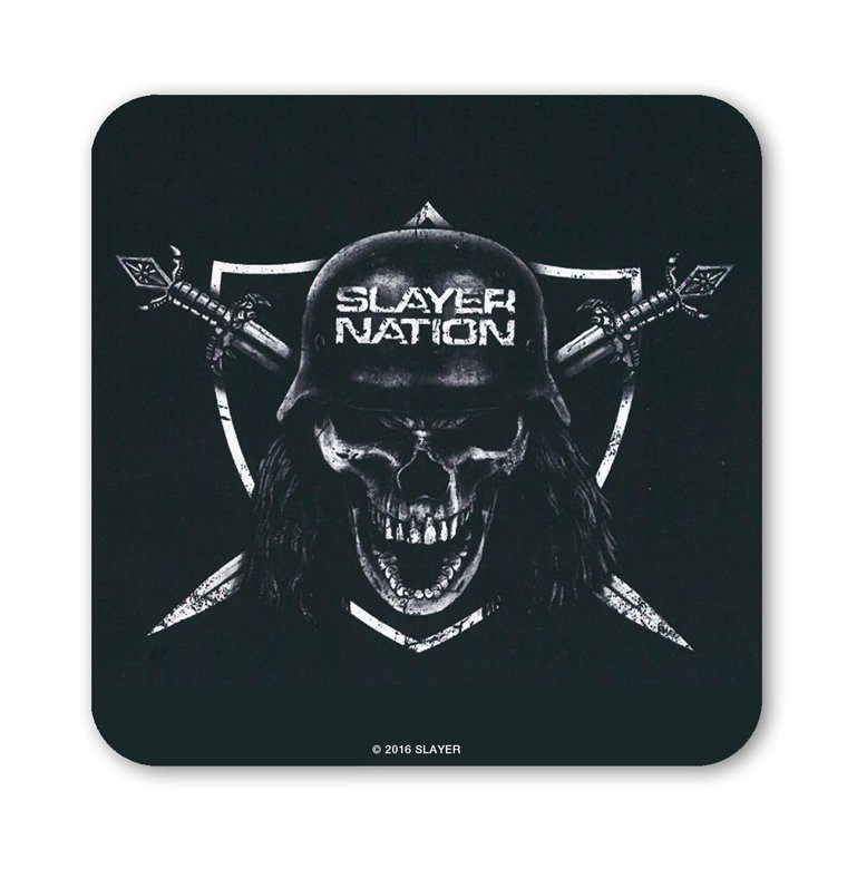 LOGOSHIRT Untersetzer mit rockigem Slayer-Motiv