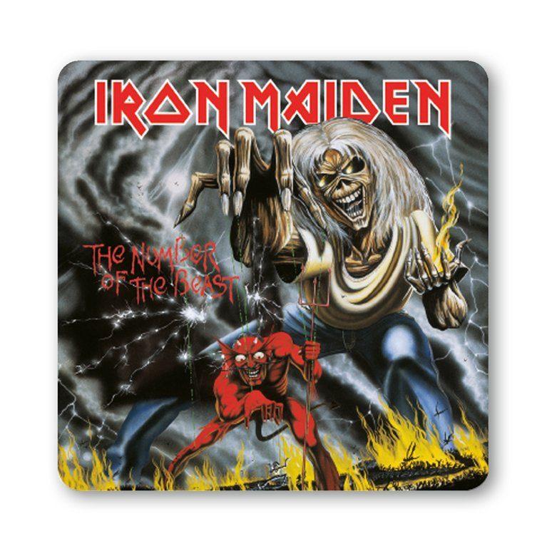 LOGOSHIRT Untersetzer mit Iron Maiden-Motiv