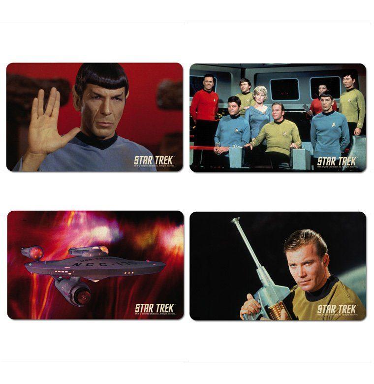 LOGOSHIRT Frühstücksbrettchen 4er-Set mit Star Trek-Motiven