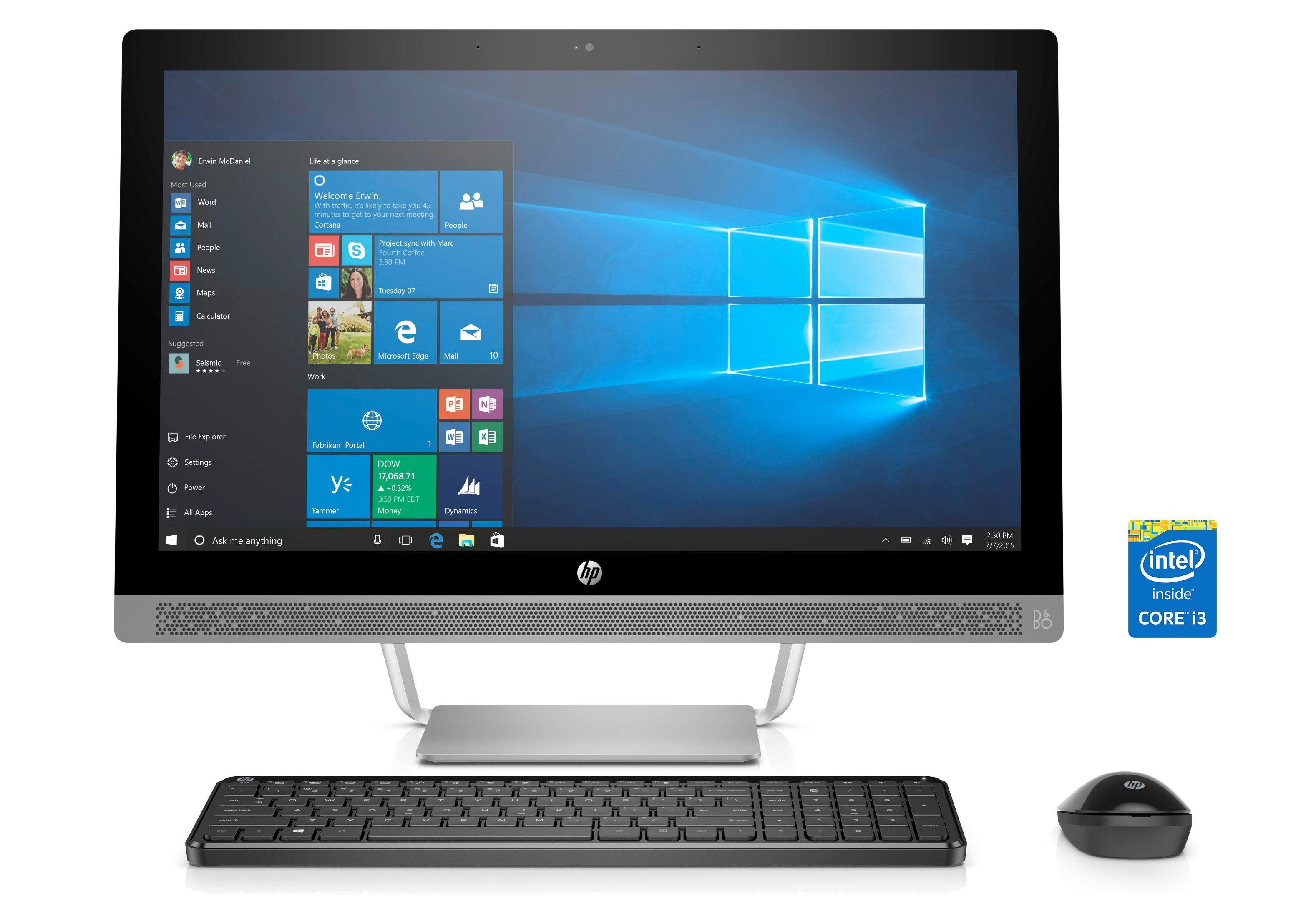 HP All-in-one PCs »PROONE 440 G3 AIO NT CI3-7100T«