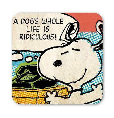 LOGOSHIRT Untersetzer mit lustigem Snoopy-Motiv