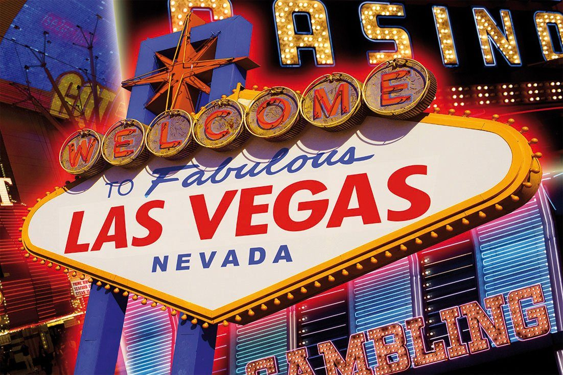 PAPERMOON Fototapete »Las Vegas«, Vlies, 5 Bahnen, 250 x 180 cm