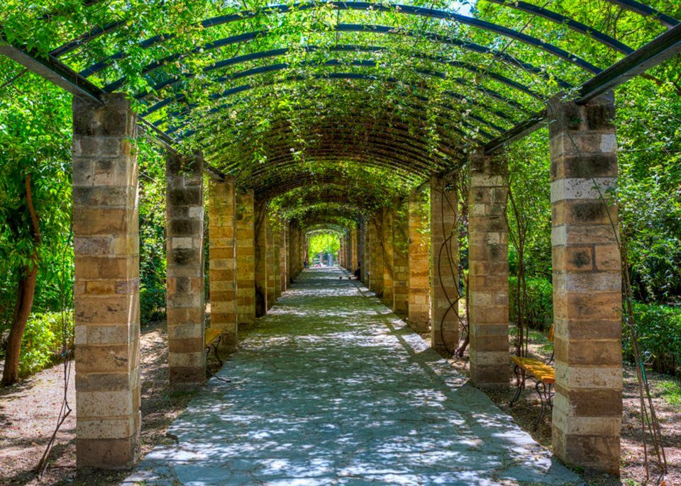 PAPERMOON Fototapete »Garden of Athens«, Vlies, 7 Bahnen, 350 x 260 cm
