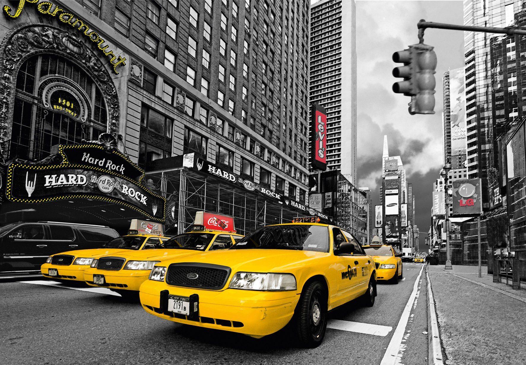 PAPERMOON Fototapete »Time Square HR Cafe«, Vlies, 7 Bahnen, 350 x 260 cm