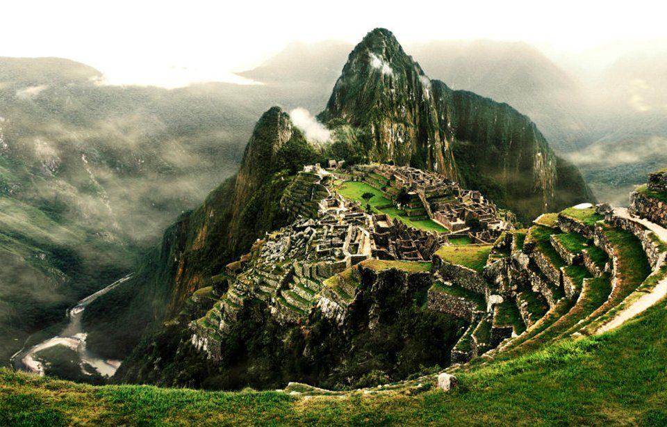 PAPERMOON Fototapete »Machu Picchu«, Vlies, 7 Bahnen, 350 x 260 cm