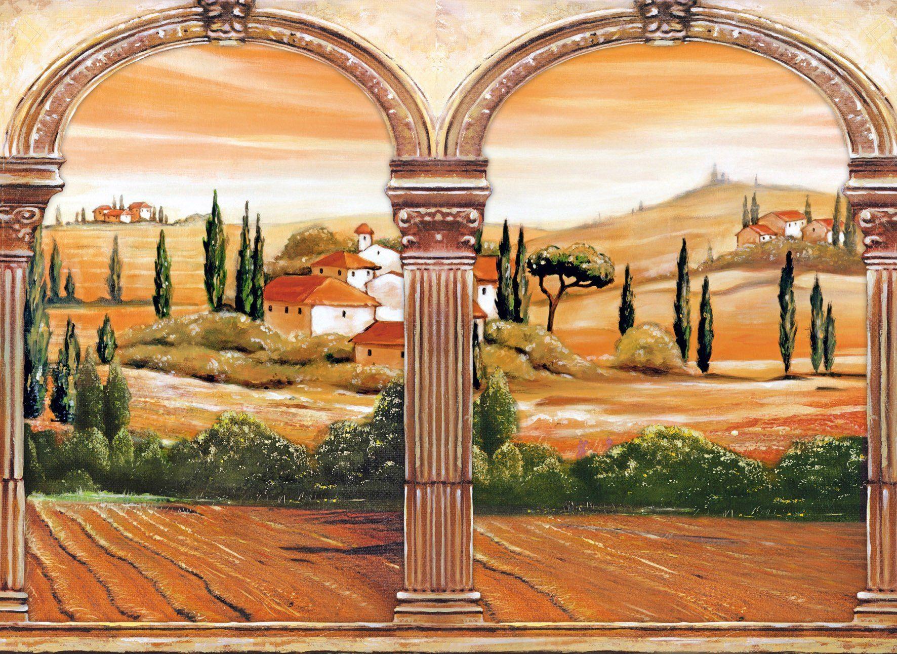 PAPERMOON Fototapete »Tuscany«, Vlies, 7 Bahnen, 350 x 260 cm