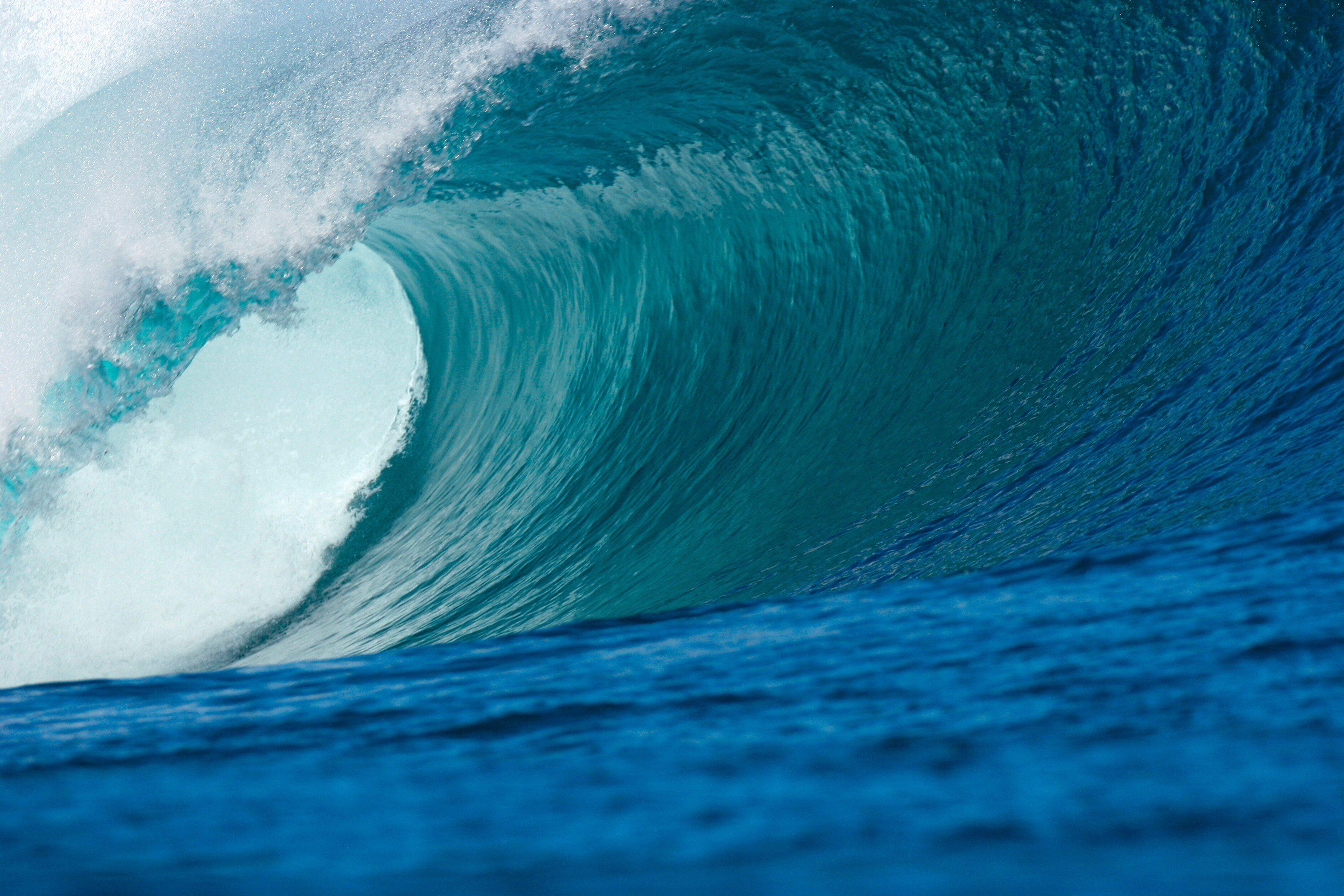 PAPERMOON Fototapete »Big Wave Big Barrel«, Vlies, 7 Bahnen, 350 x 260 cm