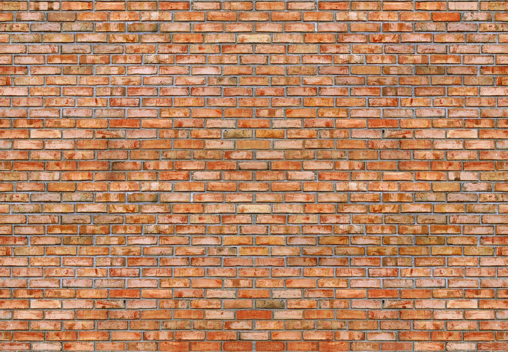 PAPERMOON Fototapete »Brickwall«, Vlies, 7 Bahnen, 350 x 260 cm