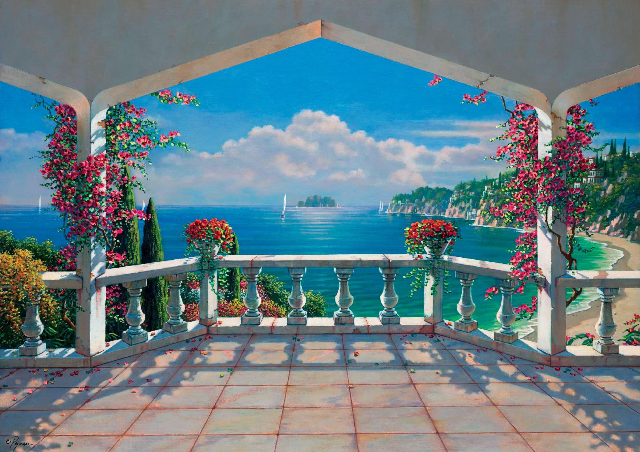 PAPERMOON Fototapete »Villa de Vista«, Vlies, 7 Bahnen, 350 x 260 cm