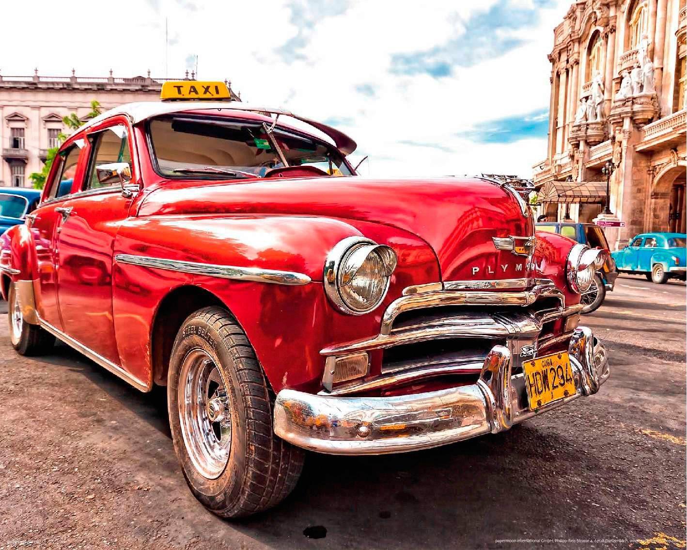 PAPERMOON Fototapete »Old Cuba Car«, Vlies, 7 Bahnen, 350 x 260 cm