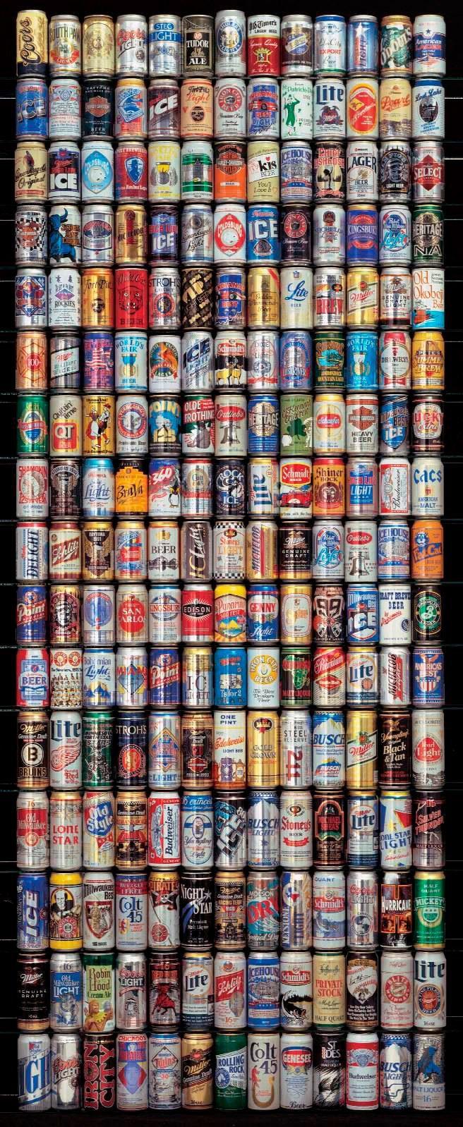 PAPERMOON Fototapete »American Beer Cans - Türtapete«, Vlies, 2 Bahnen, 90 x 200 cm