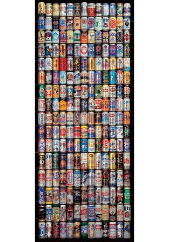 PAPERMOON Fototapetas »American Beer Cans - Türt...