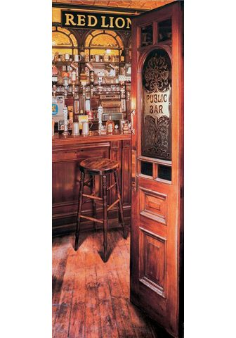 PAPERMOON Fototapetas »Red Lion Pub - Türtapete«...