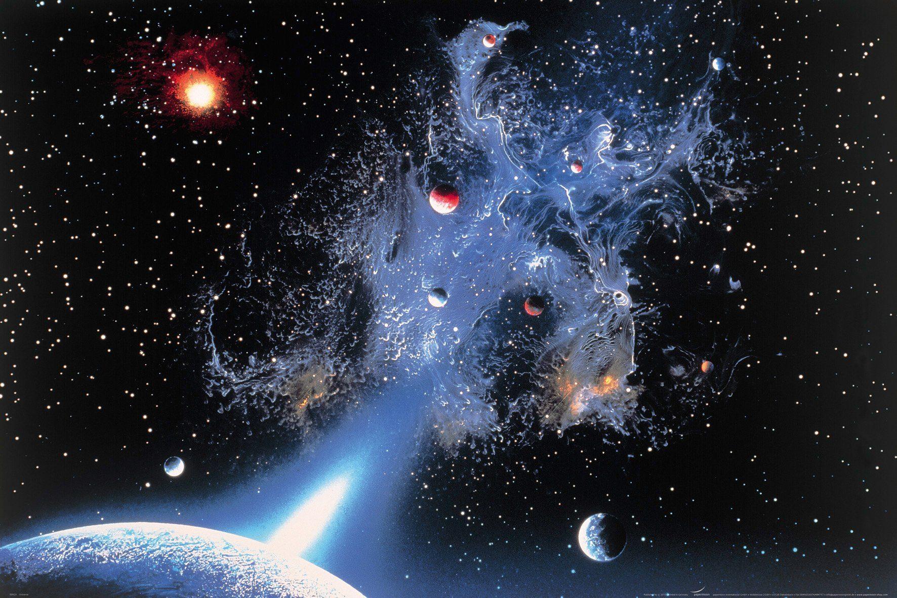 PAPERMOON Fototapete »Universum«, Vlies, 7 Bahnen, 350 x 260 cm