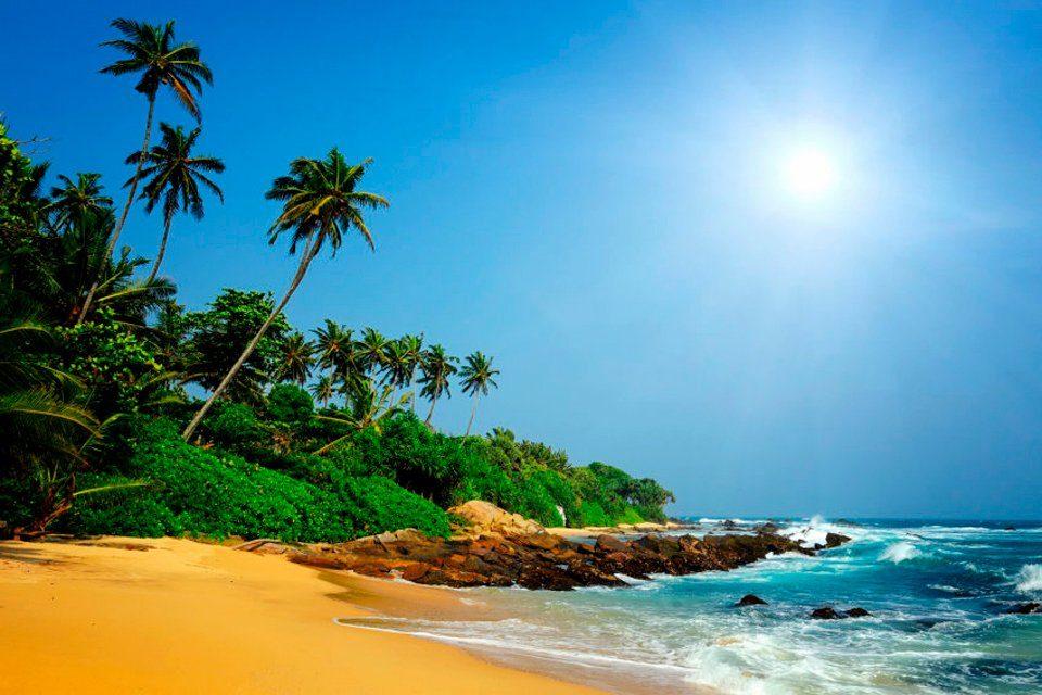 PAPERMOON Fototapete »Sri Lanka Tropical Beach«, BlueBack, 7 Bahnen, 350 x 260 cm